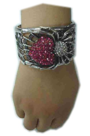 Armband luxe spin zilver/pink-0