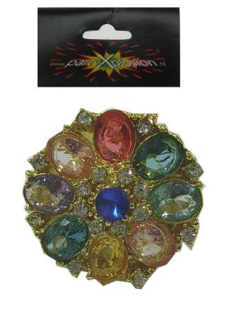 Ring goud beatrix + 8 grote stenen-0