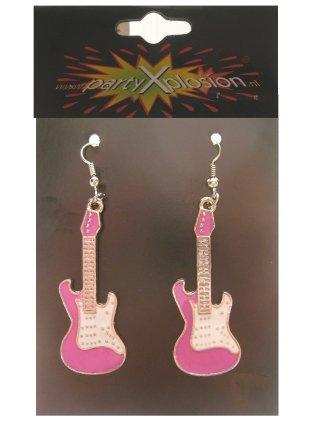 Oorring gitaar pink per paar-0