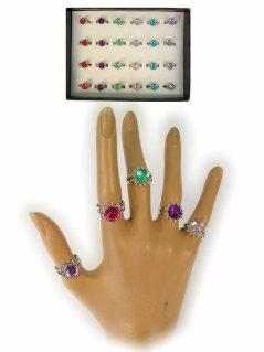 Ring prinses assortie kleuren juweel-0