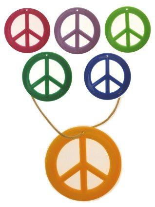 Peaceteken plastic assortie kleuren-0
