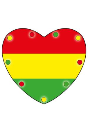 Ketting hartje met licht 'Vlag rood/geel/groen'-0