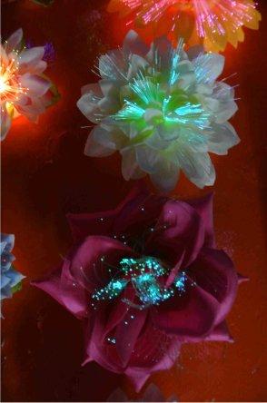 Bloemen fiber assortie gekleurd+licht+clip-0