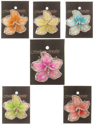 Orchidee lichtgevend assortie kleur en clip-0