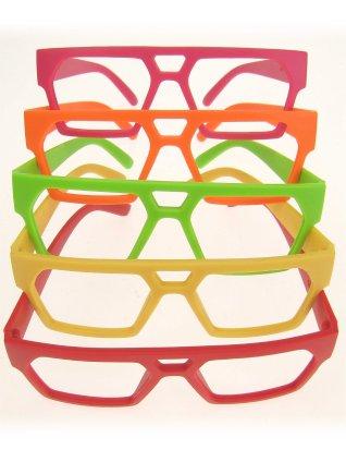 Bril recht model assortie kleuren zonder glazen-0