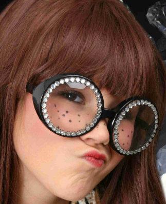 Bril rond montuur met strass contour-0