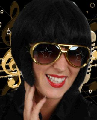 Elvis bril goud + bakkebaarden-0