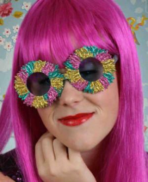 Bloemen bril multicolour-0