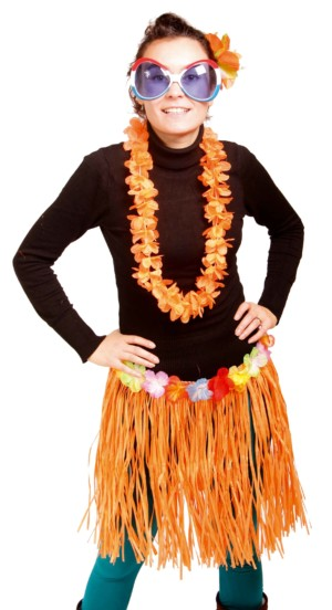 Hawai Rok 45cm Oranje-0