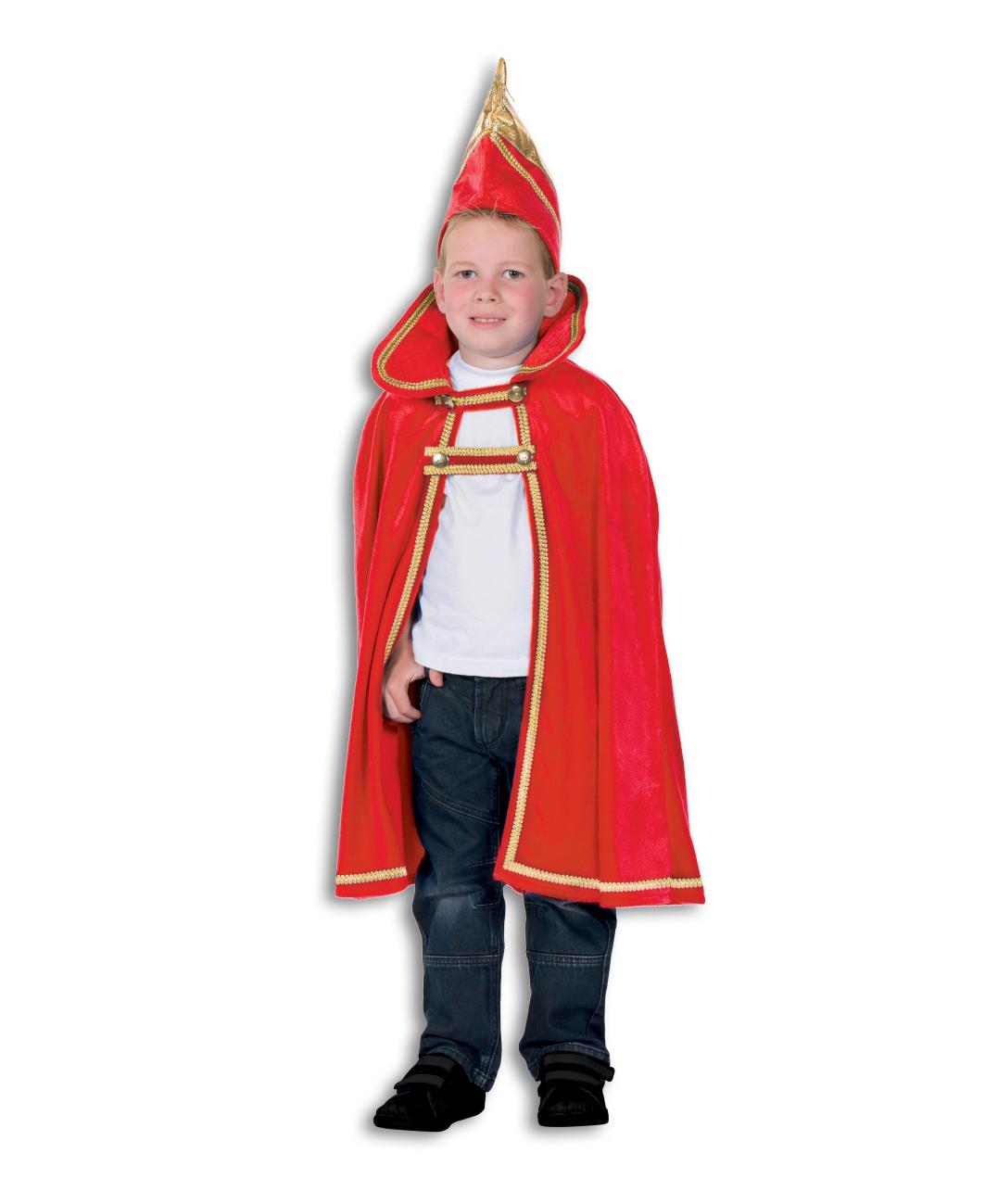 Prinsencape fluweel rood-0