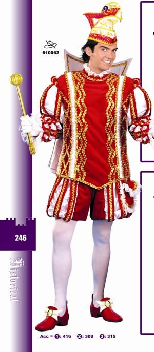 Prinsenmuts rood/wit-0
