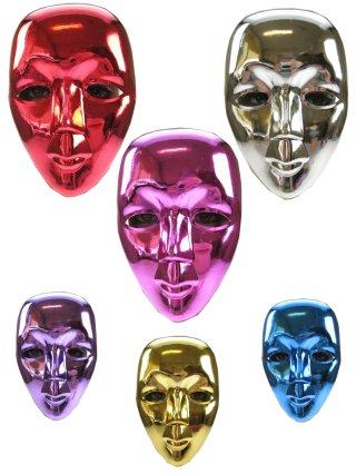 Masker metallic 6 assortie-0
