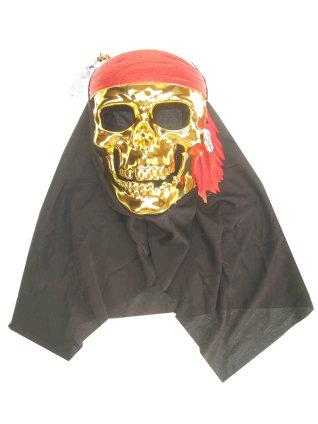 Masker piraat goud met doek-0