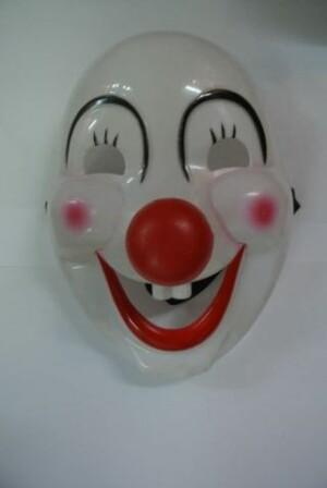 Masker clown wit-0