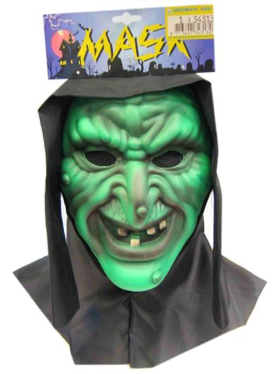 Vynil masker heks + doek (Halloween)-0
