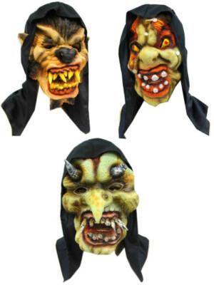 Horror masker + kap 3 ass. (Halloween)-0