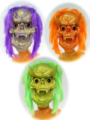 Satan masker glitter fluor 3 ass. (Halloween)-0