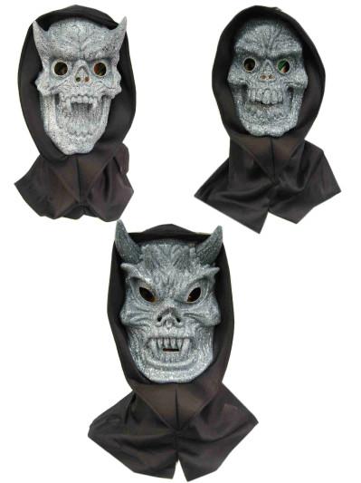 Horror masker versteend 3 ass. (Halloween)-0