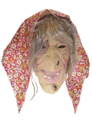 Masker rubber sarah met hoofddoek 3 assortie-0
