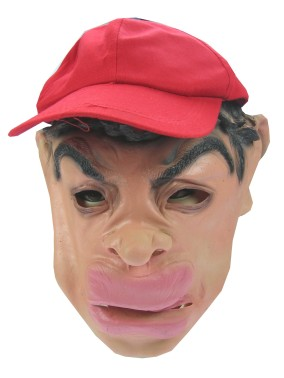 Masker rubber + pet dikke bos haren + dikke lippen-0