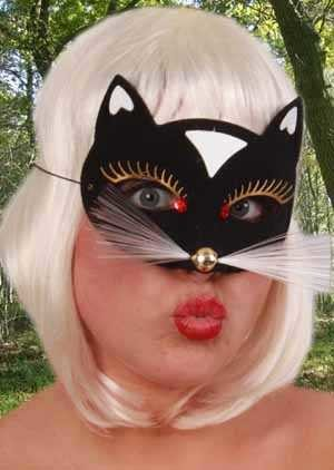 Oogmasker kat luxe zwart klein-0