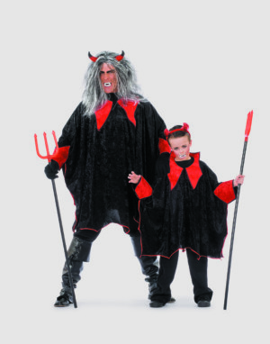 Duivelscape pansamt zwart/rood-0
