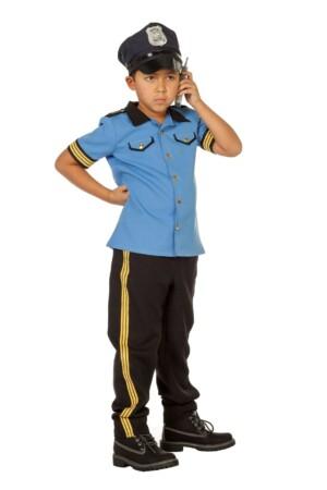 Politie jongen blue-0