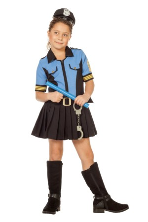 Politie meisje blue-0