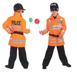 Motorpolitie neon oranje-0