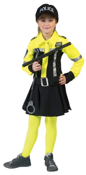 Politie meisje geel-0