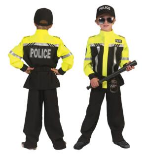 Motorpolitie neon geel-0