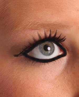 Wimpers lange-korte strepen zwart glitter-0
