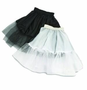 Petticoat zwart 45 cm-0