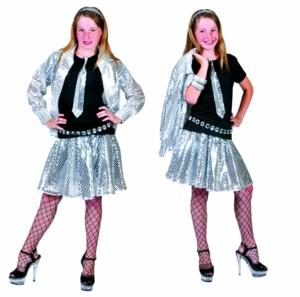 Disco glitter blouse zilver-0