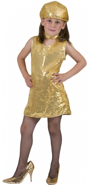 Disco tuniek goud-0