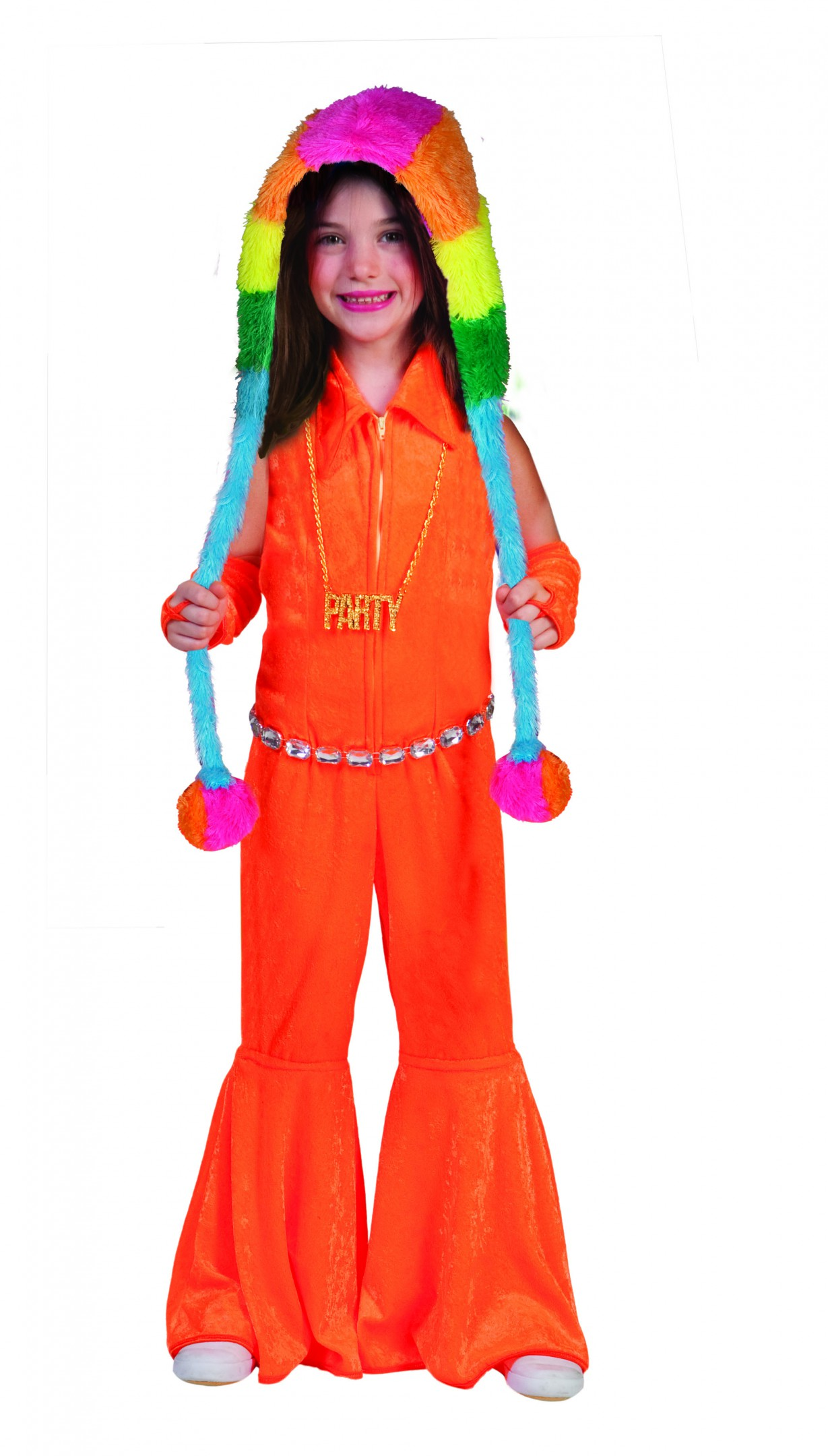 Jumpsuit neon oranje-0