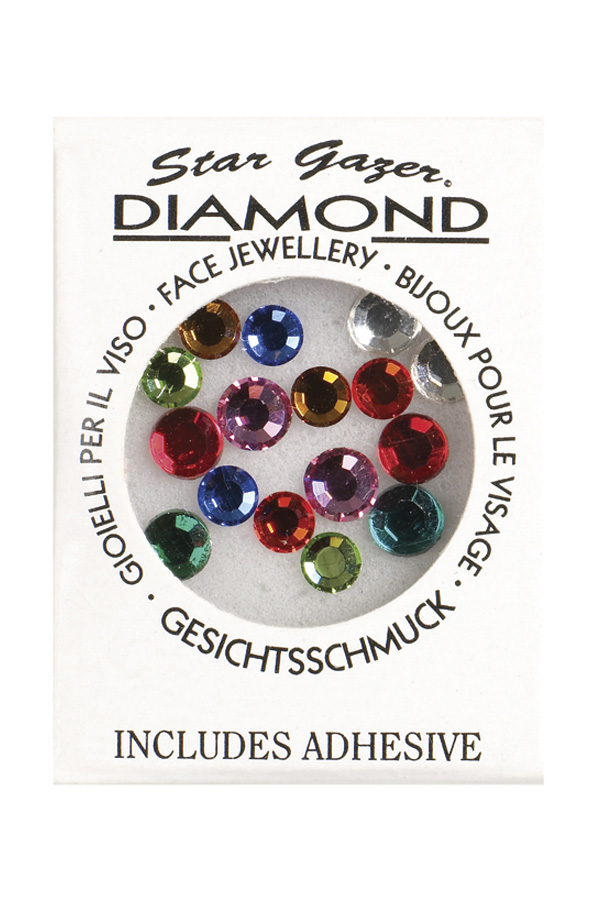 Stargazer face diamonds multi colour (glue included)-0