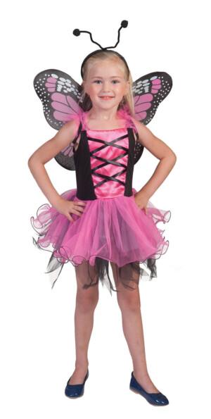 Vlinder pink/roze-0