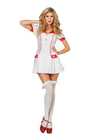 Verpleegster met plooirokje-0