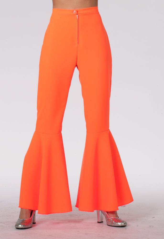 Hippie broek neon oranje-0