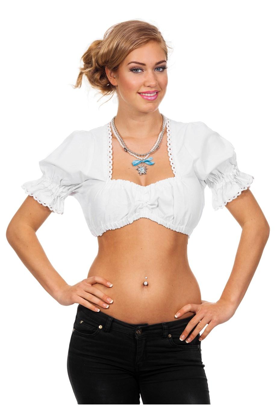 dirndl-blouse-kort-wit