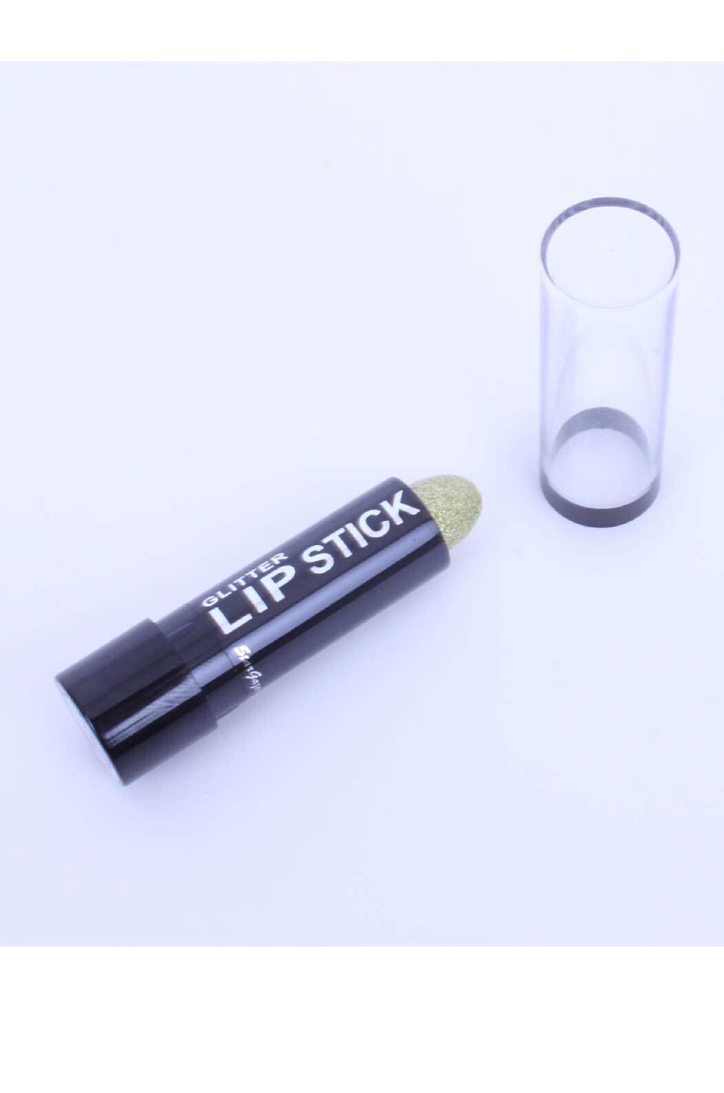 Sparkling glitter lipstick gold-0