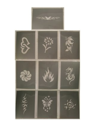 PXP glittersjabloon 10 stuks Serie D 6.5 x 9.5 cm-0