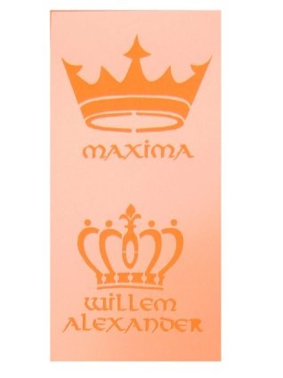 PXP glittersjabloon willem en maxima 5x10cm-0