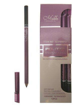 Professional eyebrow pencil zwart met kam-0