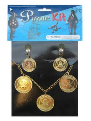 Piraten ketting + oorring-0