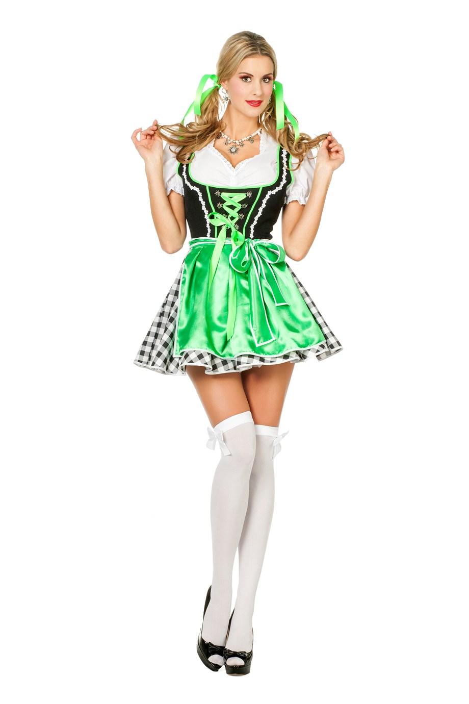 Dirndl jurkje groen romy