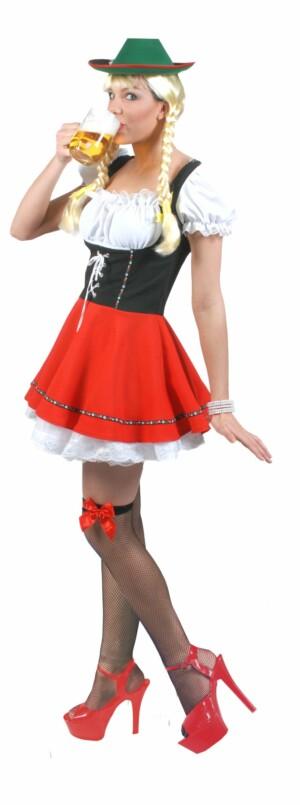 Tiroler jurk rood-0
