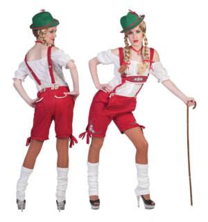 Lederhosen-dames-rood
