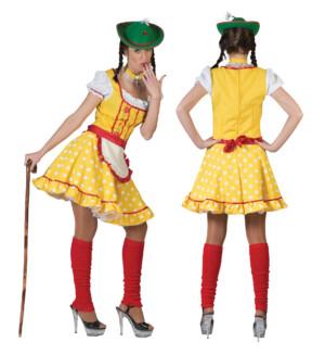Dirndl jurkje geel babette